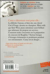 Cheval d'orage t.3 ; galop de feu - 4ème de couverture - Format classique