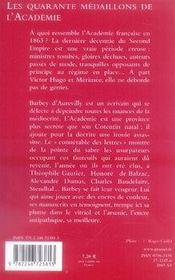 Les quarante médaillons de l'académie - 4ème de couverture - Format classique
