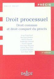 Droit Processuel ; Droit Commun Et Droit Compare Du Proces - Intérieur - Format classique