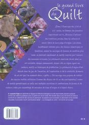Le Grand Livre Du Quilt - 4ème de couverture - Format classique