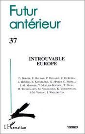 Introuvable Europe - Couverture - Format classique