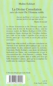 La divine consolation - 4ème de couverture - Format classique