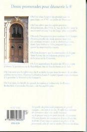 Le guide du promeneur 8eme arrondissement - 4ème de couverture - Format classique