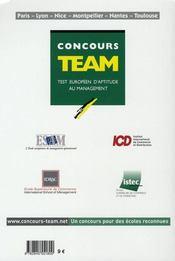 Concours Team 2007-2008 - 4ème de couverture - Format classique