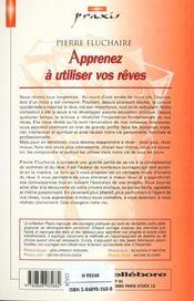 Apprenez A Utiliser Vos Reves - 4ème de couverture - Format classique