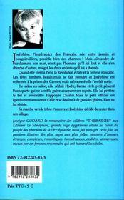Les amours de josephine de beauharnais, lascive et enjoleuse - 4ème de couverture - Format classique