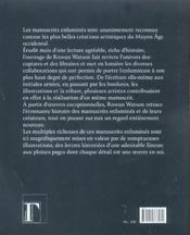 Les manuscrits enluminés et leurs créateurs - 4ème de couverture - Format classique