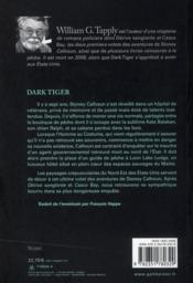 Dark tiger - 4ème de couverture - Format classique