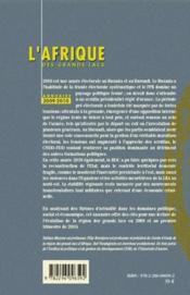 L'Afrique des grands lacs ; annuaire 2009-2010 - 4ème de couverture - Format classique