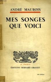 Mes Songes Que Voici. - Couverture - Format classique