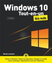Windows 10 tout en 1 pour les nuls (6e édition) - Couverture - Format classique