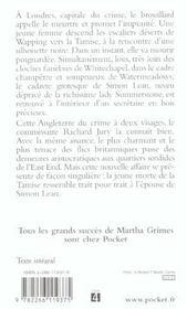Les cloches de whitechapel - 4ème de couverture - Format classique