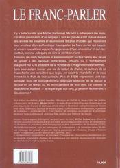 Franc Parler (Le) - 4ème de couverture - Format classique