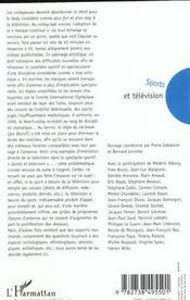 Sports Et Television ; Regards Croises - 4ème de couverture - Format classique