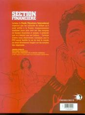 Section financiere t.1 ; corruption - 4ème de couverture - Format classique