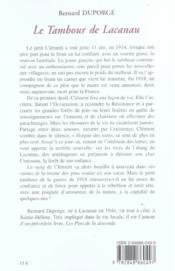 Tambour de lacanau (le) - 4ème de couverture - Format classique