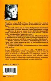 Les amours d'isadora duncan ; jusqu'aux vertiges - 4ème de couverture - Format classique