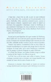 Reves D'Escales ; Escales De Reves - 4ème de couverture - Format classique