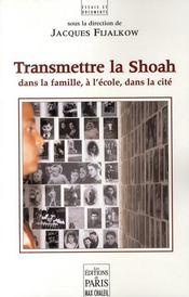 Transmettre la Shoah - Couverture - Format classique