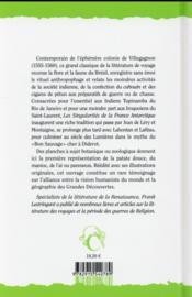 Le Brésil d'André Thevet ; les Singularités de la France Antarctique (1557) - 4ème de couverture - Format classique