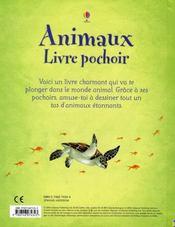 Animaux ; livre pochoir - 4ème de couverture - Format classique