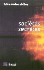 Sociétés secrètes - Intérieur - Format classique