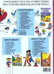 Schtroumpferies t.5 - 4ème de couverture - Format classique