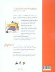 Encadrez vos broderies - perfectionnement volume 1 - 4ème de couverture - Format classique