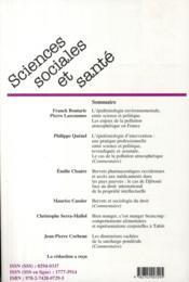 Épidémiologie environnementale - 4ème de couverture - Format classique