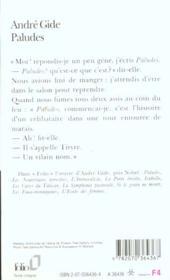 Paludes - 4ème de couverture - Format classique