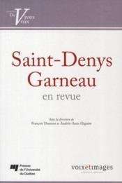 Saint-Denys Garneau en revue - Couverture - Format classique