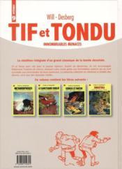 Tif et Tondu ; INTEGRALE VOL.9 ; innombrables menaces - 4ème de couverture - Format classique
