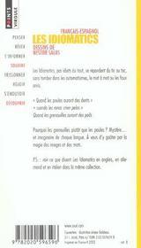 Les idiomatics français-espagnol - 4ème de couverture - Format classique