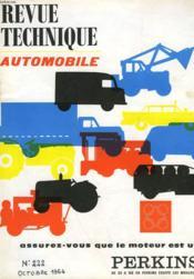 Revue Technique Automobile - N°222 - Couverture - Format classique