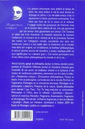 Analyse de l'amour et autres sujets (4e édition) - 4ème de couverture - Format classique