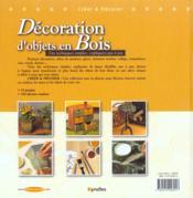 Decoration d'objets en bois des techniques simples expliquees pas a pas - 4ème de couverture - Format classique