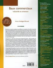 Baux commerciaux ; industriels et artisanaux (14e édition) - 4ème de couverture - Format classique
