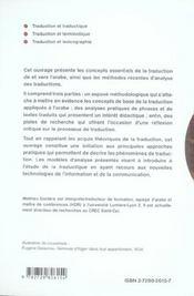 La Traduction Arabe Methodes Et Applications De La Traduction A La Traductique - 4ème de couverture - Format classique