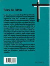 Physique Theorique Theorie Des Champs - 4ème de couverture - Format classique