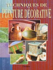 Techniques De Peinture Decorative - Intérieur - Format classique