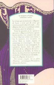 La diligence de Lyon - 4ème de couverture - Format classique