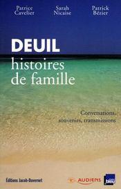 Deuil Histoires De Famille - Couverture - Format classique