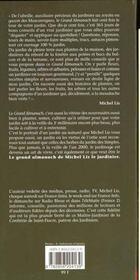 Le Grand Almanach De Michel Lis Le Jardinier - 4ème de couverture - Format classique