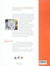 Encadrez vos broderies, perfectionnement t.2 - 4ème de couverture - Format classique