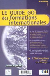 Guide Go Des Formations Internationales 2001 - Intérieur - Format classique