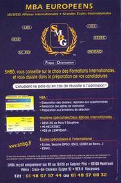 Guide Go Des Formations Internationales 2001 - 4ème de couverture - Format classique