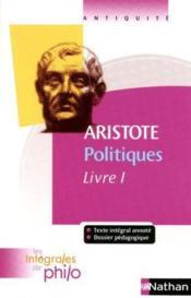 Aristote ; politiques t.1 - Couverture - Format classique