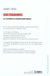 Nostradamus du 11 septembre a la troisieme guerre mondiale - 4ème de couverture - Format classique