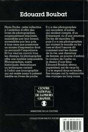 Edouard Boubat - 4ème de couverture - Format classique