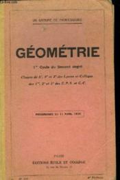 Geometrie N°215 - 1er Cylce Du Second Degre - Couverture - Format classique